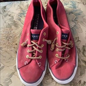 Shoes - Red Sperry's Top-Siders